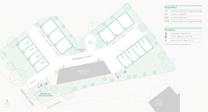 Windmill Place Site Plan