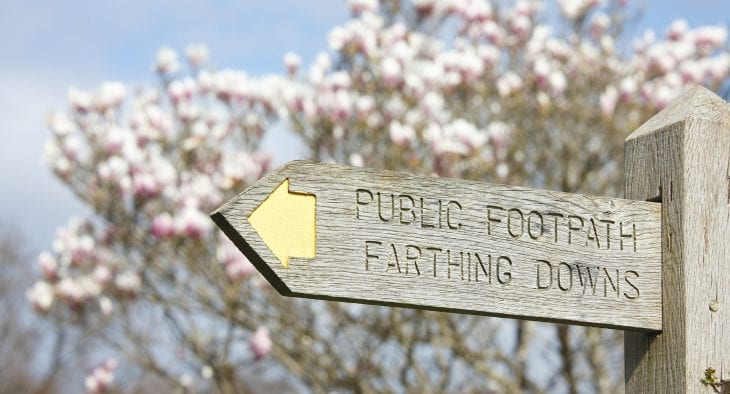 Farthing Downs Sign Croydon